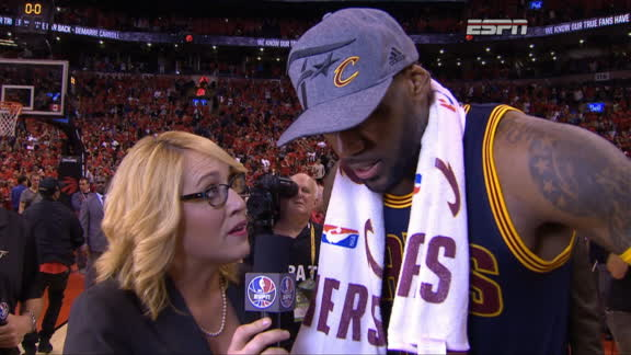Emotional LeBron James says 6th straight trip to Finals 'means everything'