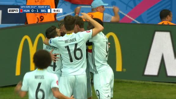 Euro: Alderweireld goal -- Belgium (10')
