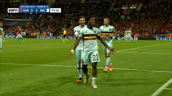 Euro: Batshuayi goal -- Belgium (78')