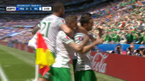 Ireland converts on early penalty kick