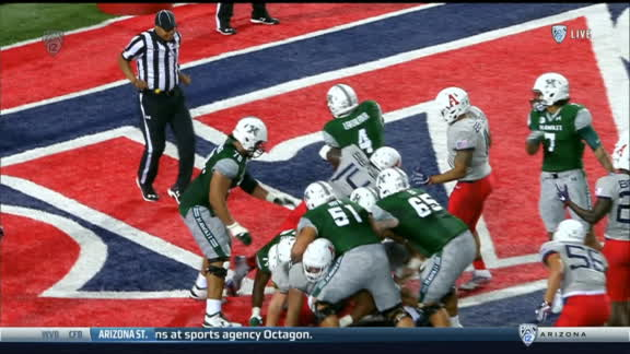 Hawaii's Steven Lakalaka runs for 1 yd TD