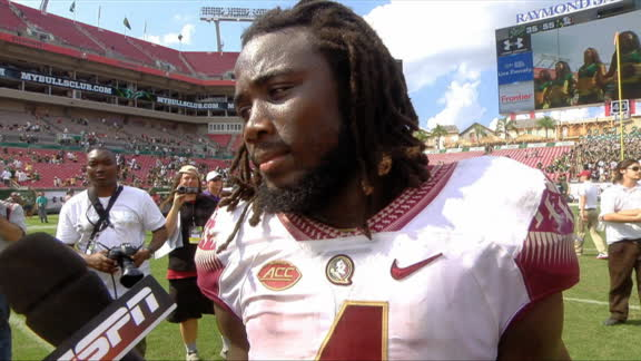 Florida State head coach Jimbo Fisher and RB Dalvin Cook talk about win over USF
