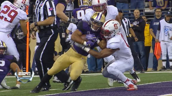Gaskin scores second TD to continue beat down over Stanford