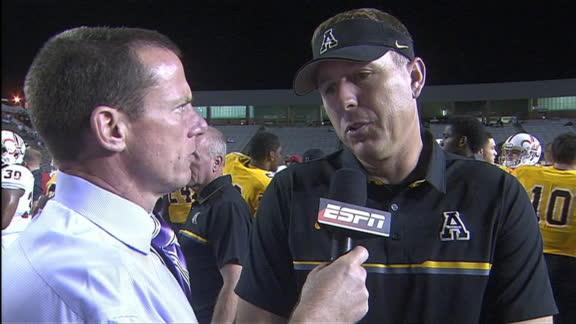 Appalachian State head coach Scott Satterfield happy with 24-0 road win