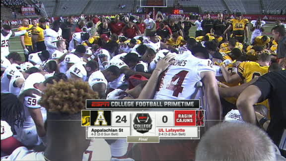 Breakdown of Appalachian State's 24-0 win over Louisiana-Lafayette