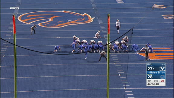 Boise State wins on dramatic blocked field goal