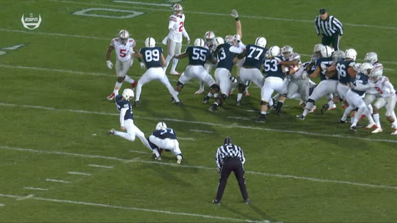 Blocked FG return gives Penn State signature win, shakes up playoff race