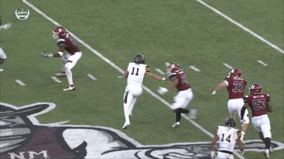 Lamb goes 48 yards on the keeper for another App State TD
