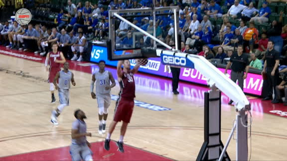 Stanford's Verhoeven left open for dunk