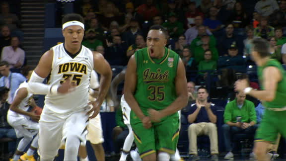 Breaking down Bonzie Colson's double Double against Iowa