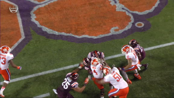 Watson gets some help to score again for Clemson