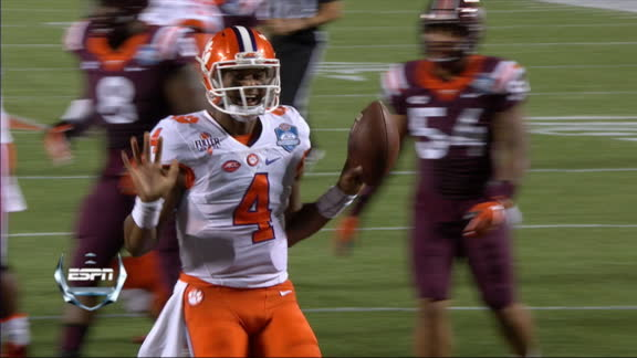Clemson caps opening driving with Watson's 3-yard TD