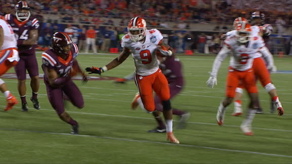 Gallman gets in the end zone for Clemson TD