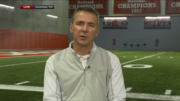 Urban Meyer watches CFP decision from maternity ward