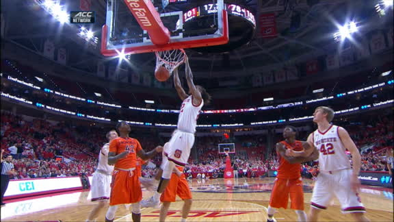 NC State caps off win with another alley-oop dunk