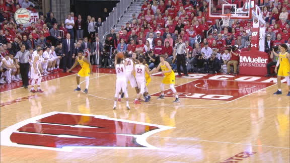 Koenig drills a 3 from way downtown