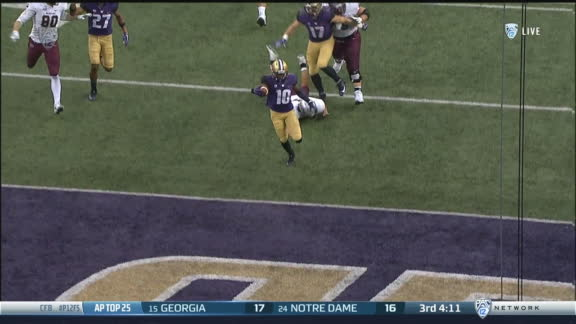 Washington returns INT 68 yards to the house