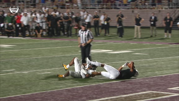Texas State comes up inches short of tying App State