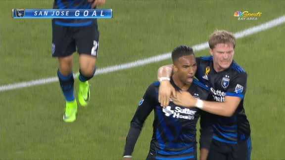Hoesen turns and scores for San Jose