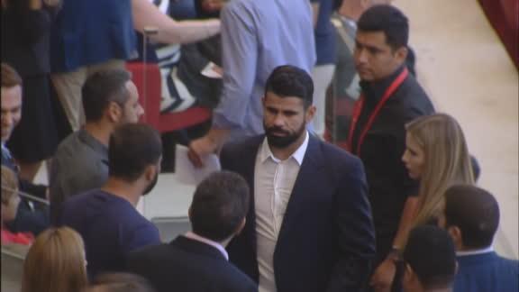 Diego Costa fue a ver al Atlético Madrid