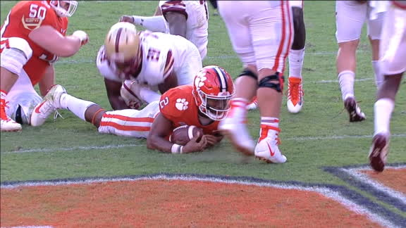 Bryant dives in for his 2nd rushing TD