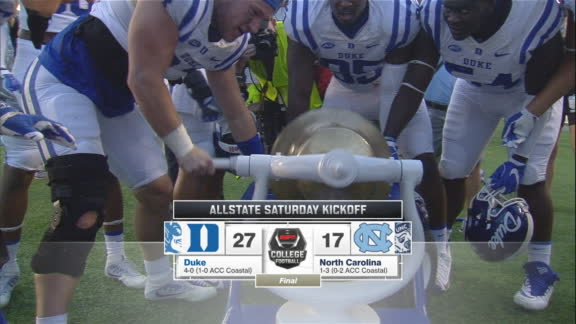 Duke uses a late pick-six to seal win over UNC
