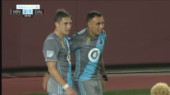 Ibarra's sweet volley gives Minnesota lead