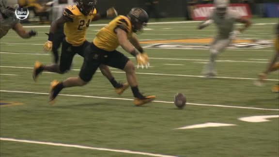 Appalachian State's defense with the big play turnover