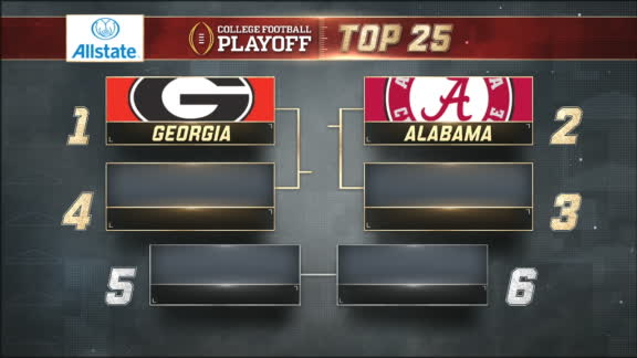 Georgia ranked at top of first CFP rankings