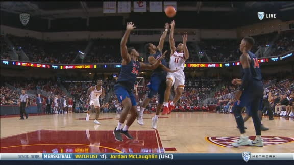USC's McLaughlin calls bank at the buzzer