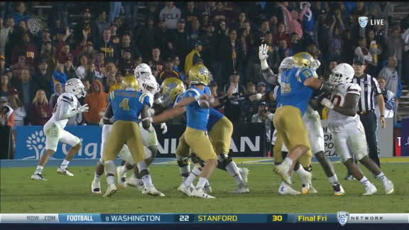 Rosen fires it to Lasley for the TD