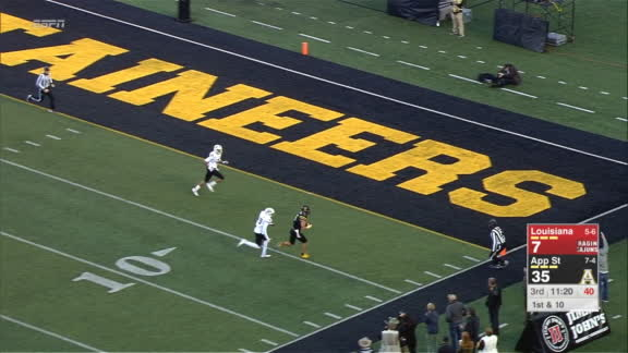 Appalachian State's Hennigan makes 4th TD grab of the game
