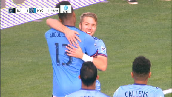 WATCH: Tinnerholm's volley brings NYCFC level