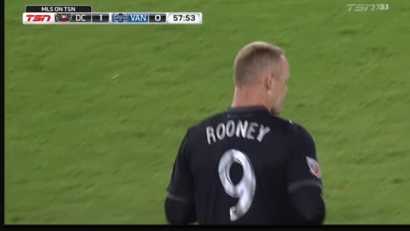 Entrada con ovación para Wayne Rooney en su debut con DC United