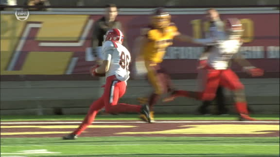 Neal throws to Miller for 6-yd Ball State TD