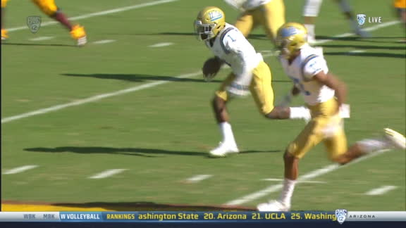 UCLA CB takes back int 31-yards for TD