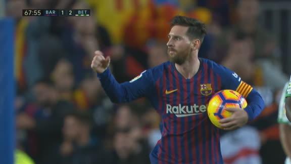 ¡GOL DE MESSI! Lionel descontó para el Barcelona