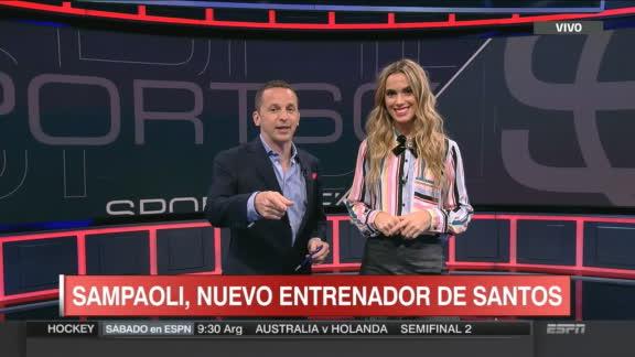 Sampaoli, nuevo entrenador de Santos