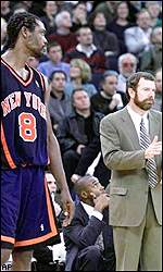 Latrell Sprewell and P.J. Carlesimo