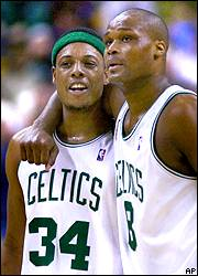 Paul Pierce and Antoine Walker