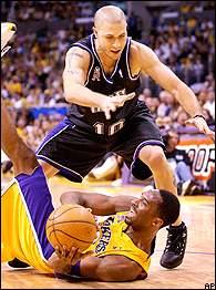 Mike Bibby and Kobe Bryant