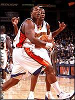 Danny Fortson and Antawn Jamison