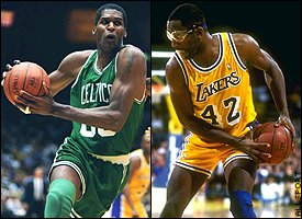 Robert Parish and James Worthy