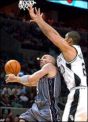 Jason Kidd and Tim Duncan