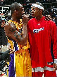 Kobe Bryant and Corey Maggette