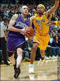 Mike Bibby and Derek Fisher
