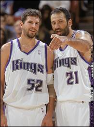 Brad Miller and Vlade Divac