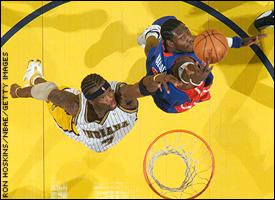 Jermaine O'Neal and Ben Wallace