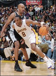 Kobe Bryant and Bruce Bowen