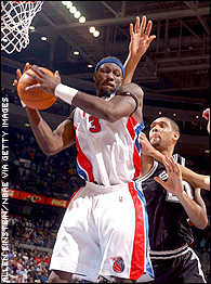 Ben Wallace and Tim Duncan